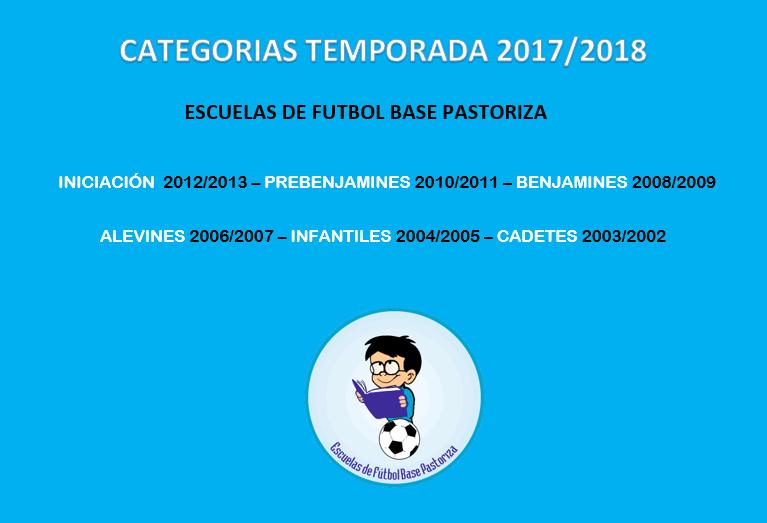 categorias temporada 2017-2018